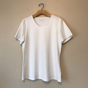 Susan Graver basic white t-shirt